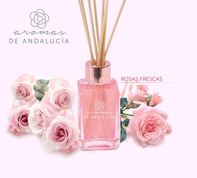 Difusor aroma rosas frescas