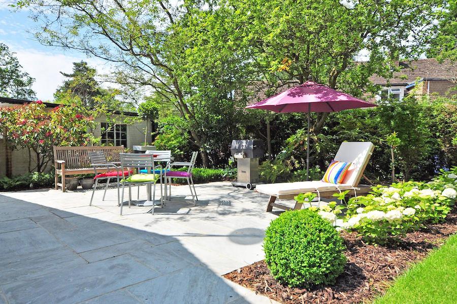Jardines urbanos en verano