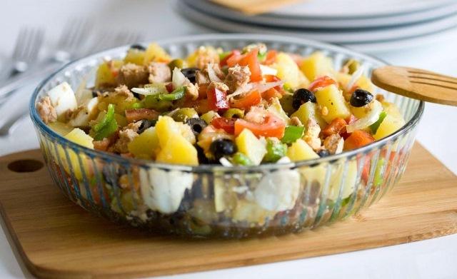 ensalada campera o ensaladas de verano