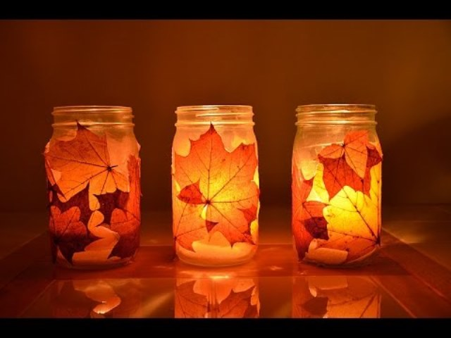 portavelas diy de otoño